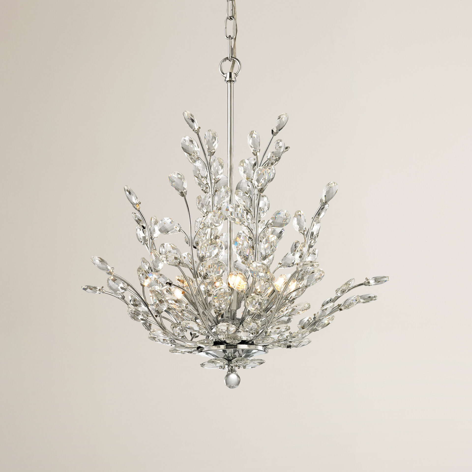 House of Hampton Ryde 6 Light Crystal Chandelier & Reviews