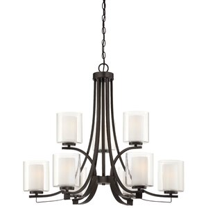 Bensenville 9-Light Drum/Cylinder Candle-Style Chandelier