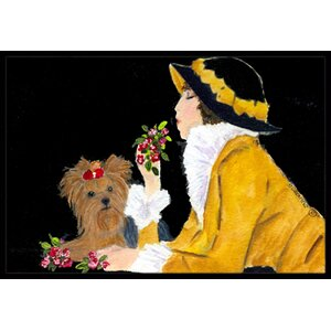 Lady with Her Yorkie Doormat