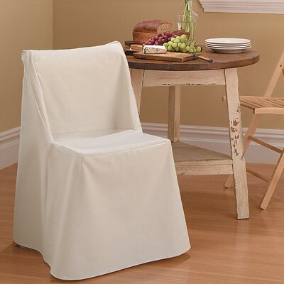 save to idea board linen cotton duck box cushion dining chair slipcover