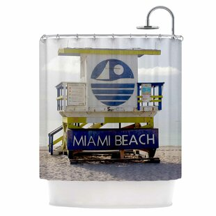 Miami Beach Lifeguard Stand Shower Curtain