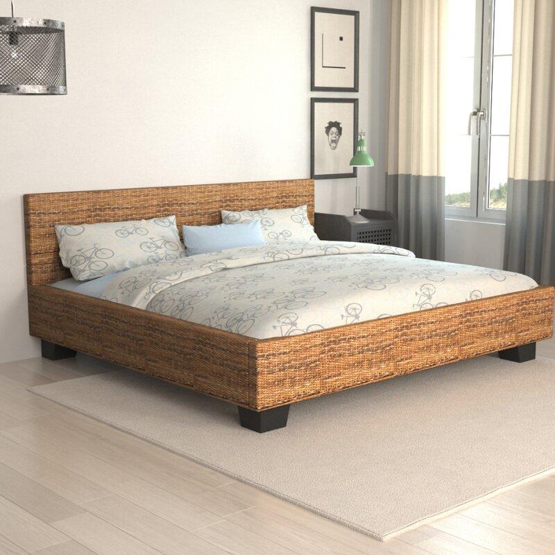 dcor design rattanbett. Black Bedroom Furniture Sets. Home Design Ideas