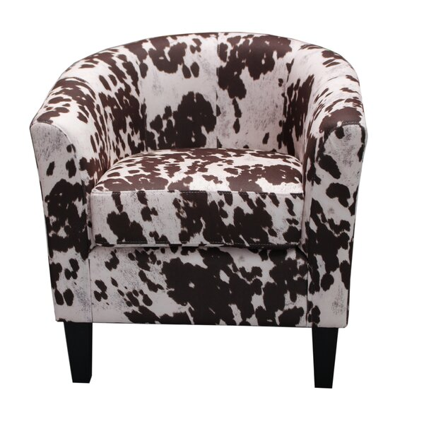 Container Cow Spot Print Barrel Chair U0026 Reviews | Wayfair