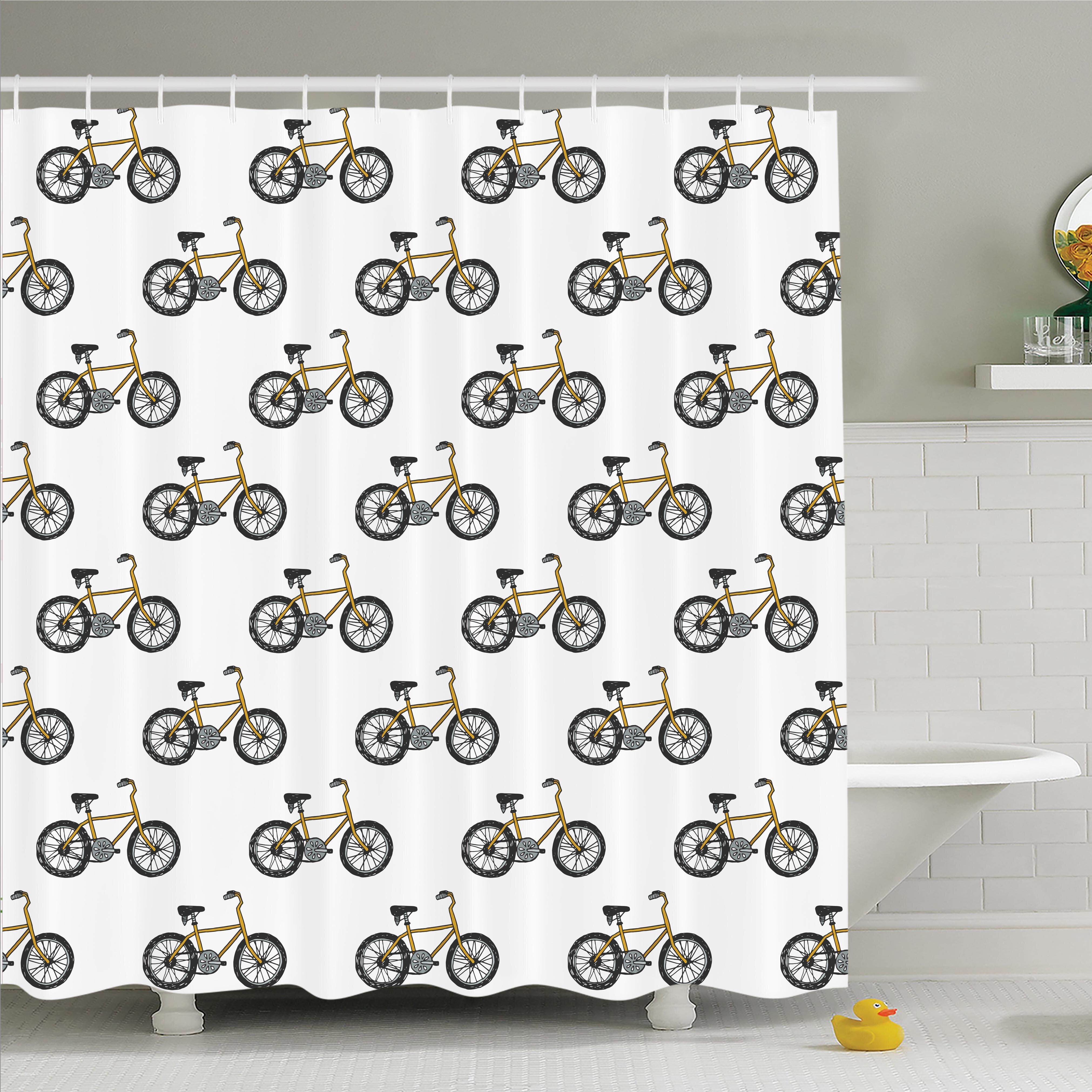 Ivy Bronx Lake Bicycle Shower Curtain Set