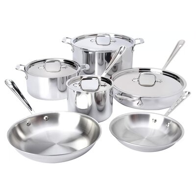 D3 Stainless Steel 10 Piece Cookware Set All-Clad