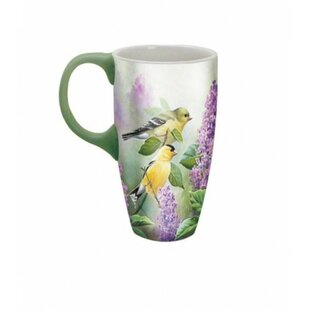 daa864c6244 18 oz. Goldfinches And Lilacs Latte Mug. by Lang