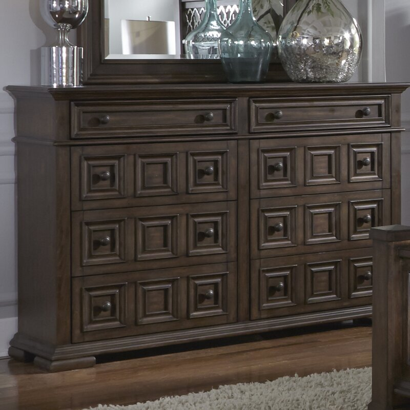 Allie 8 Drawer Dresser With Mirror