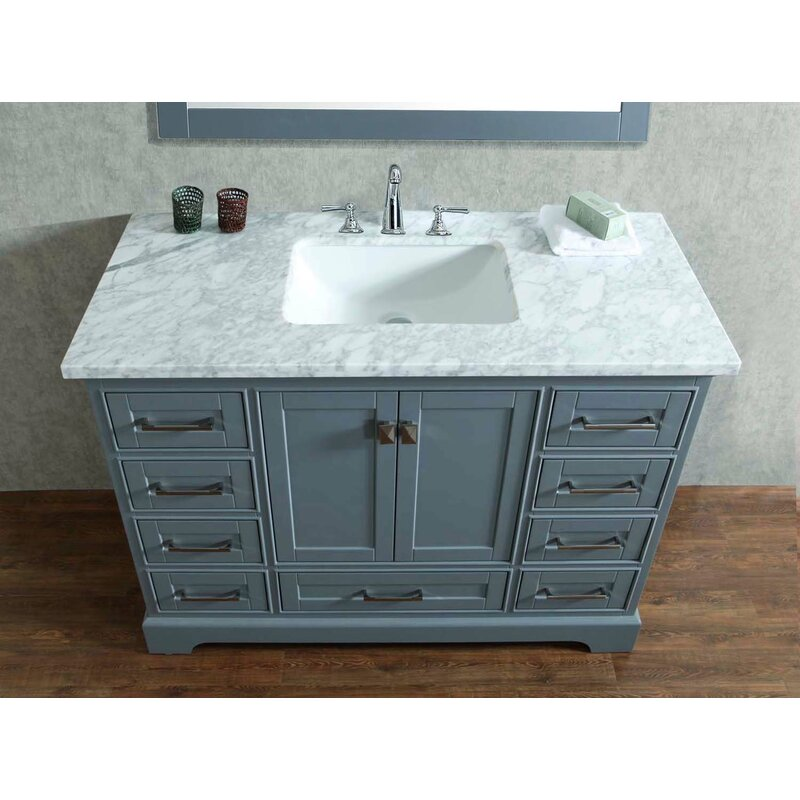 48 Single Sink Bathroom Vanity | Stian 48 Single Sink Bathroom Vanity Set With Mirror Reviews