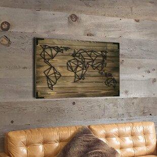 world map skeleton wall decor