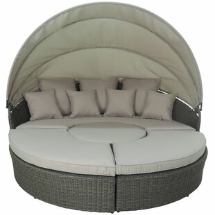 Haven 4 Piece Modular Round Canopy Daybed Set  sc 1 st  Wayfair & Canopy Patio Daybeds Youu0027ll Love | Wayfair
