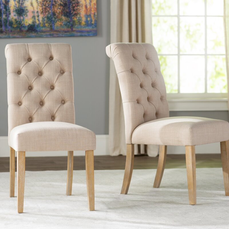 Wayfair Dining Room Chairs Curved Dining Bench Kitchen: Lark Manor Pompon Tufted Side Chair & Reviews