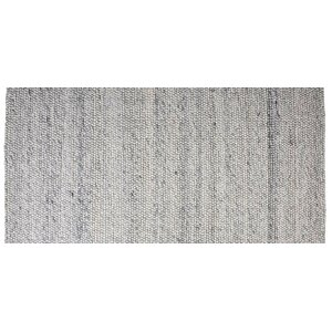 Hand-Woven Rectangle Blue Ash Area Rug