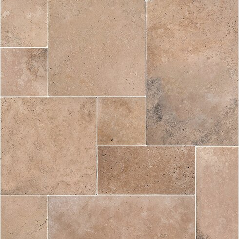 Pacifica Random Sized Travertine Field Tile In Brown