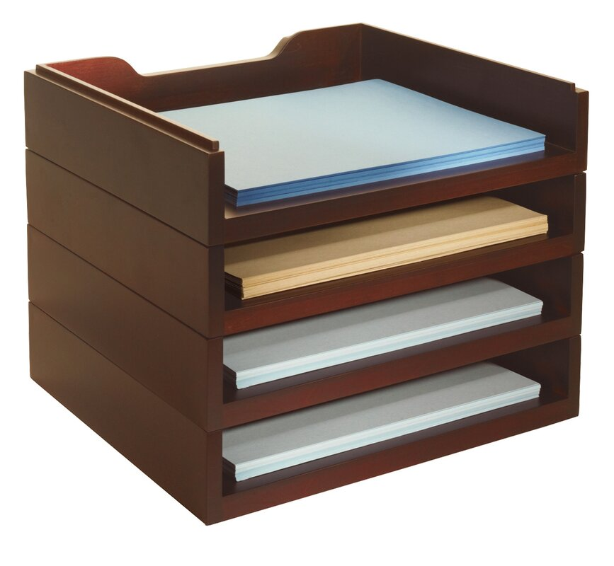 Darby Home Co Beaumys Stacking Wood Desk Organizers 4