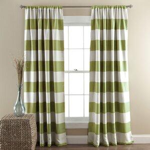 Regatta Striped Blackout Thermal Curtain Panels (Set Of 2)