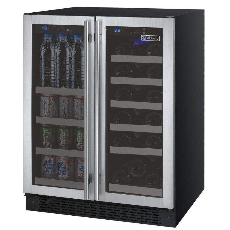 Allavino 18 Bottle FlexCount 2 Door Dual Zone Wine Cooler