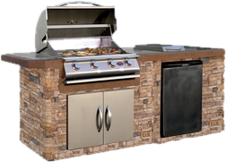 built in outdoor kitchen simple builtin grills outdoor kitchens youll love wayfair