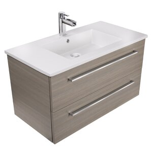 silhouette 36 single bathroom floating vanity set - Bathroom Cabinets Sink