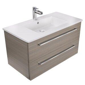 30 vanity with sink. Silhouette 30  Wall Mounted Single Bathroom Vanity Set Modern Inch Vanities AllModern