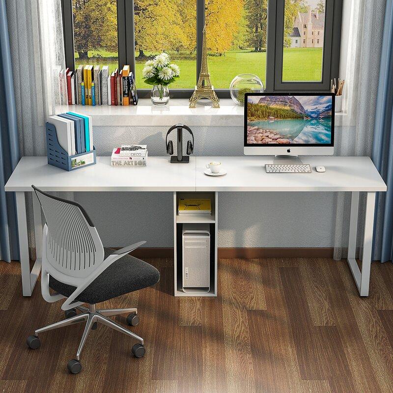 Ebern Designs Olander Double Workstation Computer Desk