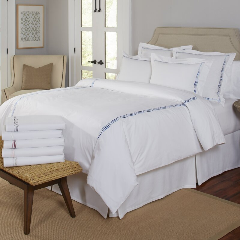 Pointehaven 300 Thread Count Wave Embroidered Euro Sham & Reviews ...