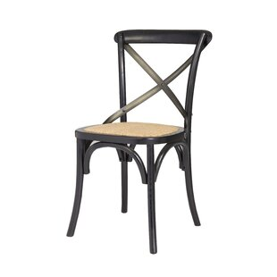 Leff Cross Back Solid Wood Dining Chair (Set of 2)