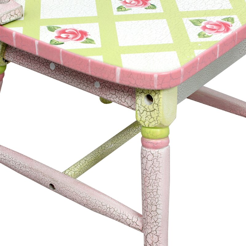 Fantasy Fields Crackled Rose Kids 3 Piece Table And Chair