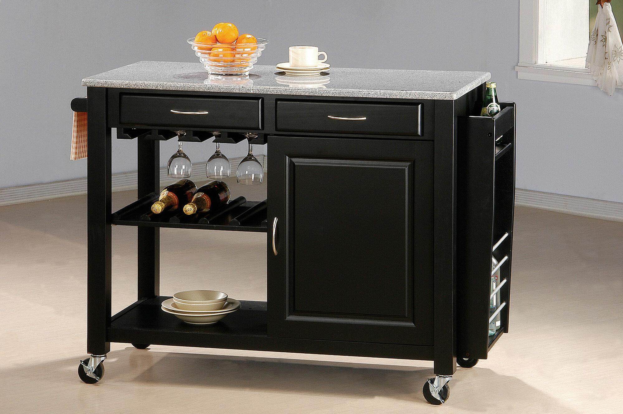 Superb Pastore Portable Kitchen Cart Granite Top Download Free Architecture Designs Scobabritishbridgeorg