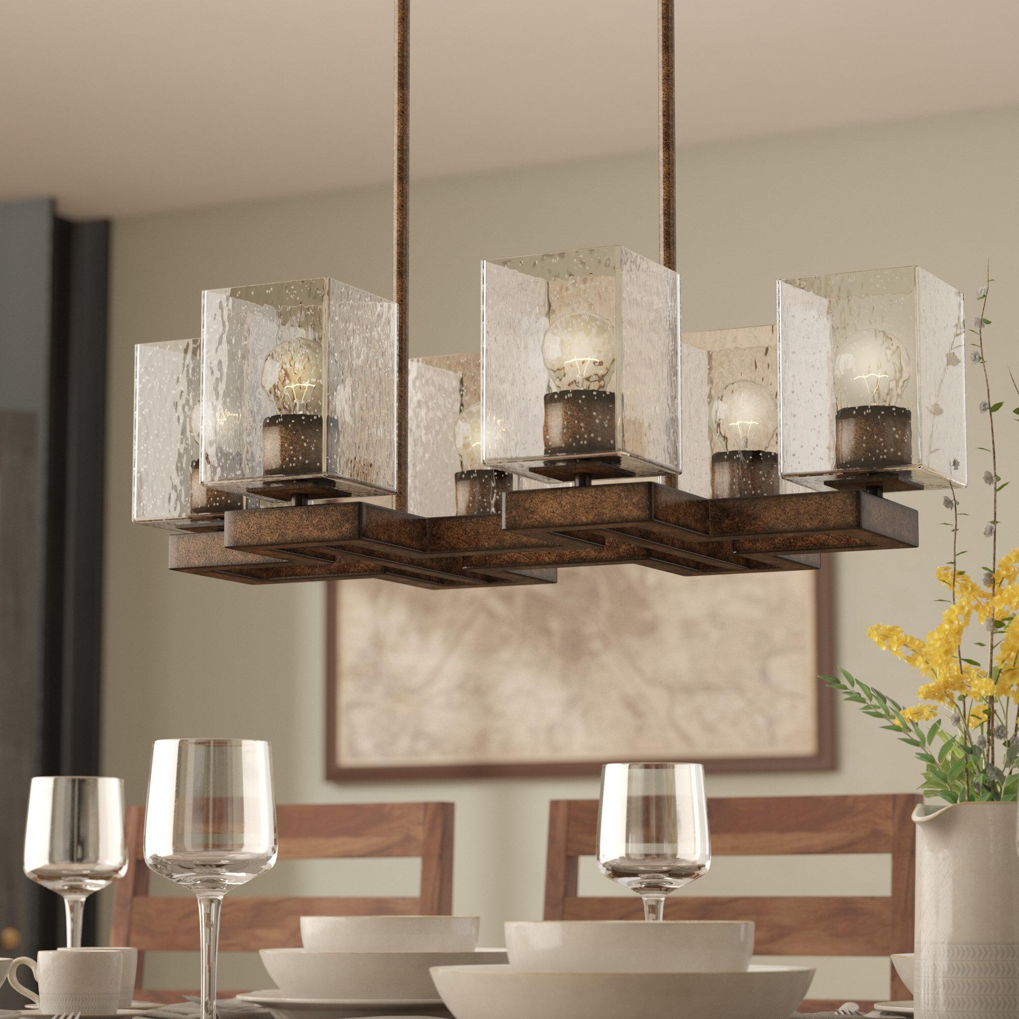 Union rustic malwae 6 light kitchen island pendant wayfair