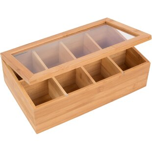 Bamboo 8 Section Tea Storage Box