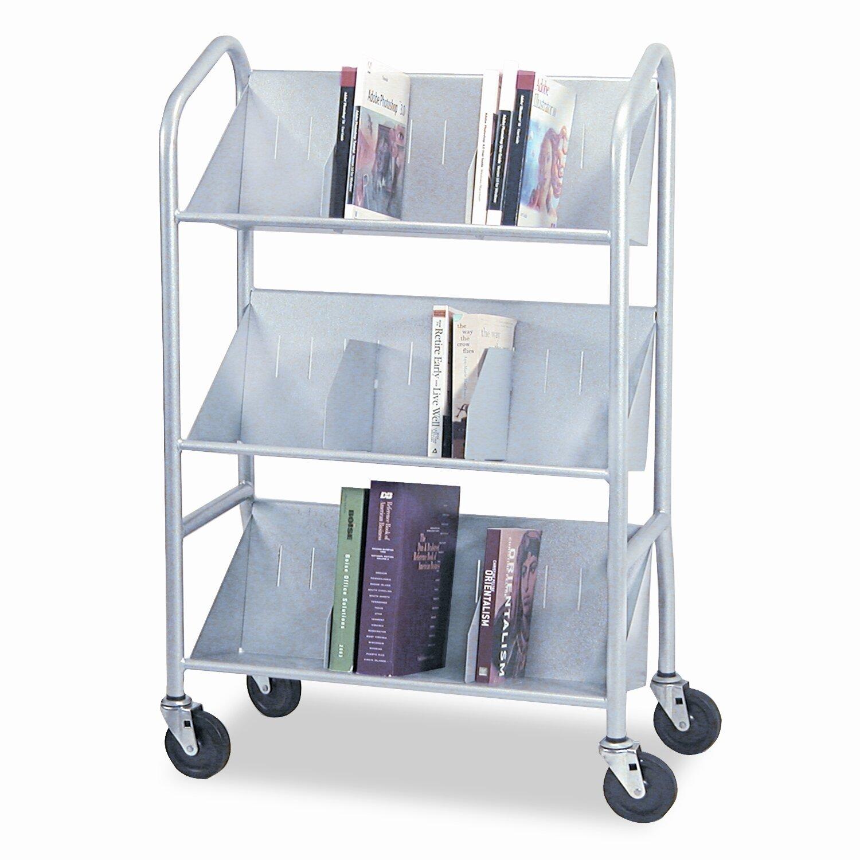 Buddy Products Sloped-Shelf Book Cart | Wayfair