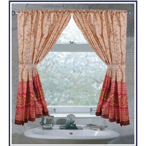 Woodbine Nature/Floral Solid Semi-Sheer Panel pair
