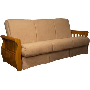 Epic Furnishings LLC Concord Suede Sit N Sleep Futon and Mattress