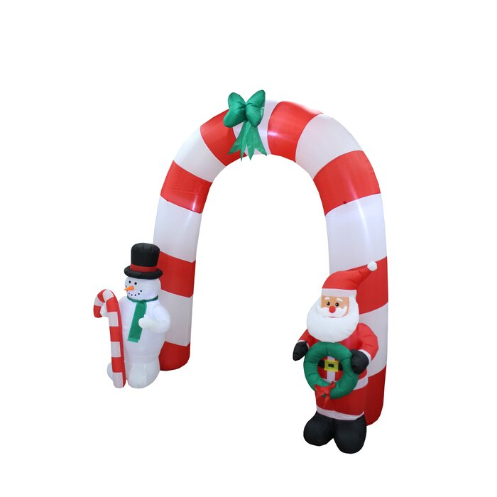 5fb93e9bc722 The Holiday Aisle Santa Claus Snowman Bow Tie Arch Christmas Inflatable &  Reviews | Wayfair.ca