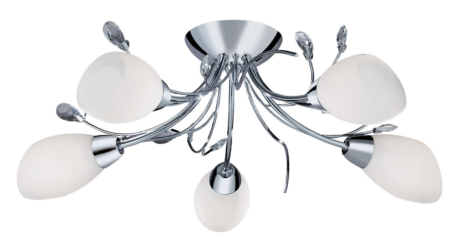 Searchlight Gardenia 5-Light Semi Flush Mount & Reviews | Wayfair.co.uk