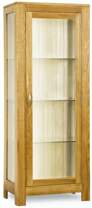 Maren Solid Oak Curio Cabinet