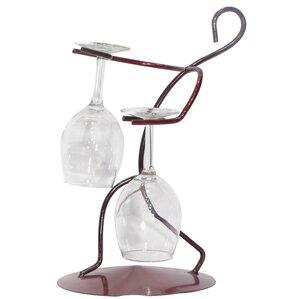 Tabletop Wine Glass Rack by Metrotex Desi..