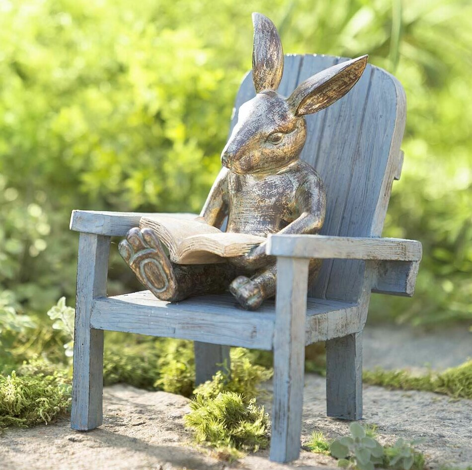 Delicieux Plow U0026 Hearth Reading Rabbit Garden Statue U0026 Reviews | Wayfair