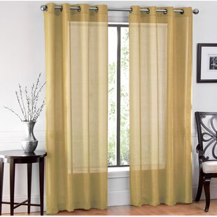 Yellow Print Curtains