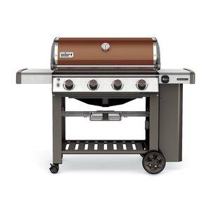 Genesis II E-410 4-Burner Propane Gas Grill with Side Shelves