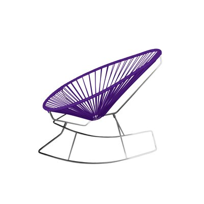 Brayden Studio Marvine Rocking Chair Color: Purple/Chrome