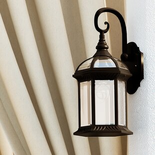 Outdoor Sconce Lights Outdoor wall lighting barn lights youll love wayfair powell 1 light outdoor wall lantern workwithnaturefo