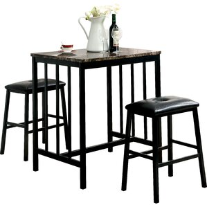 3 Piece Counter Height Dining Set by Red Barrel ..