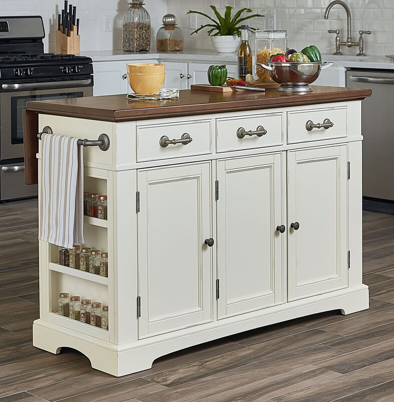 Darby Home Co Maile Large Kitchen Island & Reviews   Wayfair