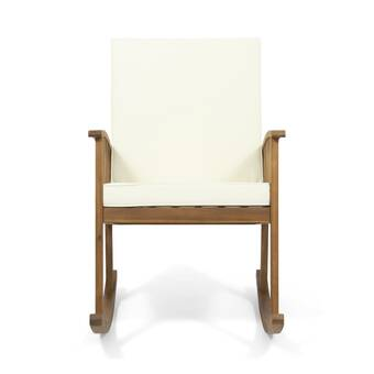Union Rustic Ossu Outdoor Rocking Chair With Cushions Reviews