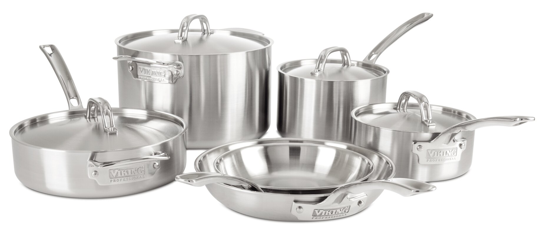 Professional 5 Ply 10 Piece Cookware Set