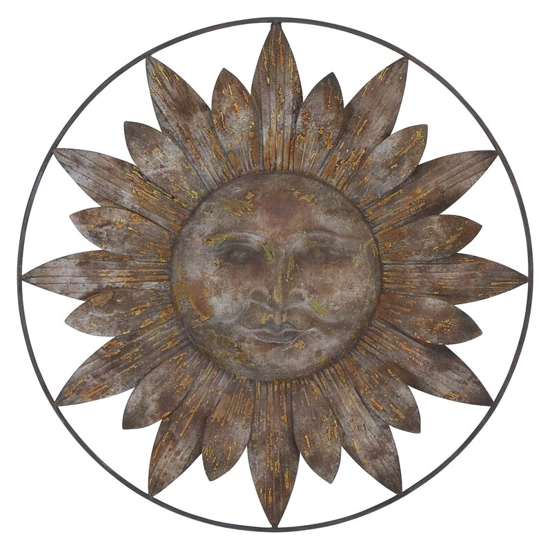 Wall Decor Metal woodland imports metal sun wall decor & reviews | wayfair