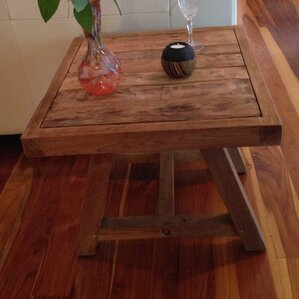 Recycled Teak End Table by Chic Teak