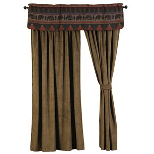 Cabin Bear Curtain Panels Set Of 2