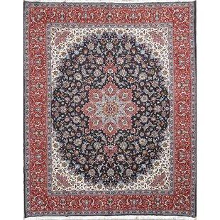 Schantz Isfahan Persian Wool Navy Blue Area Rug